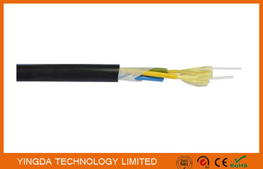 Outdoor CATV Base Station Patch Cord FTTH Drop Cable 7.0mm PE Sheath Tight Buffered Cable